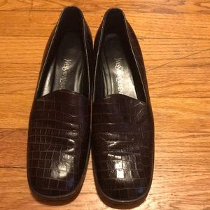 Yves saint laurent leather loafers